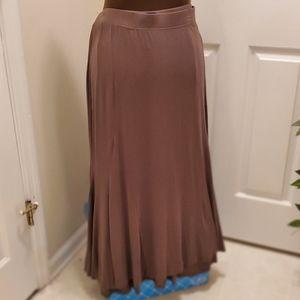 Catherines Plus Size Olive Green Skirt, Sz 1X